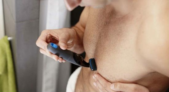 Homem No Espelho - Tipos de depilação masculina- Aparador elétrico