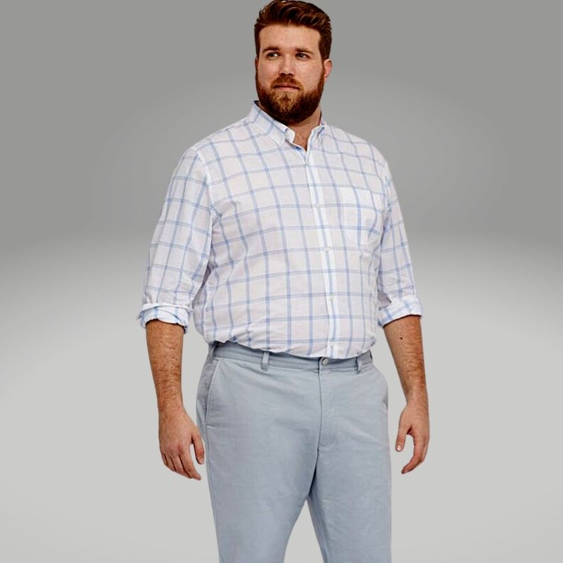 Homem No Espelho - Moda para homens gordos acima do peso