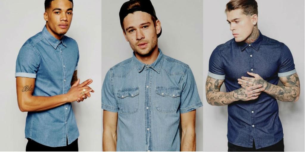 Homem No Espelho - Camisa jeans-3.