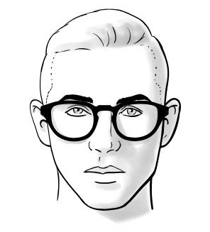 Homem No Espelho - Óculos e formatos de rosto - Coração