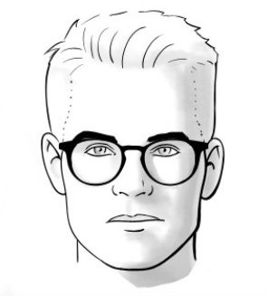 331004e91fe55 Homem No Espelho - Óculos e formatos de rosto - Quadrado - Homem no ...