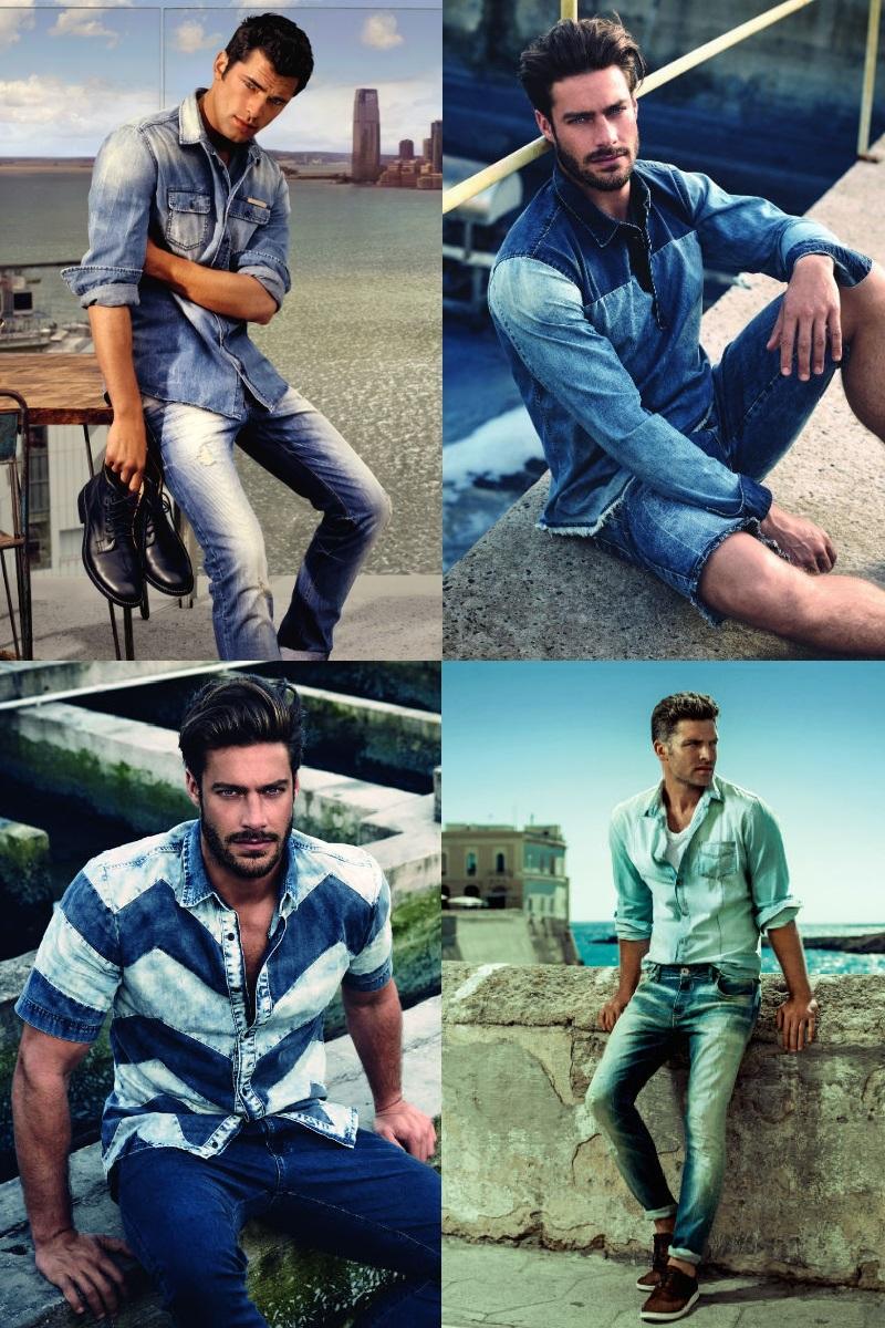 Homem No Espelho - Jeans com jeans.
