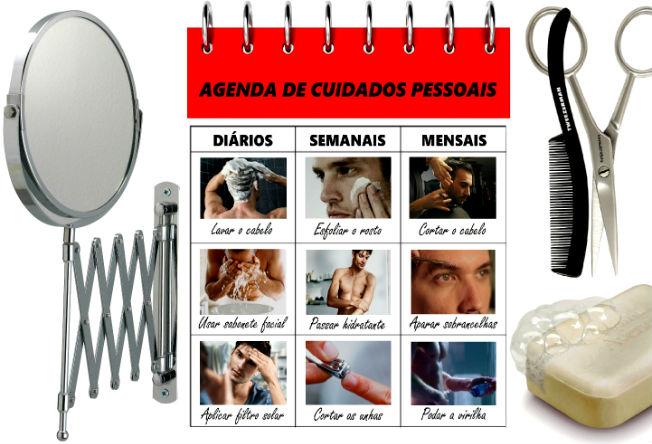 Homem No Espelho - Agenda de cuidados pessoais