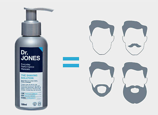 Homem No Espelho - Balm de barba Dr Jones The Shaving Solution