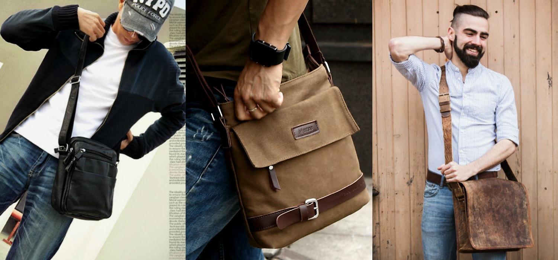 Homem No Espelho - Bolsas masculinas - Bolsa carteiro