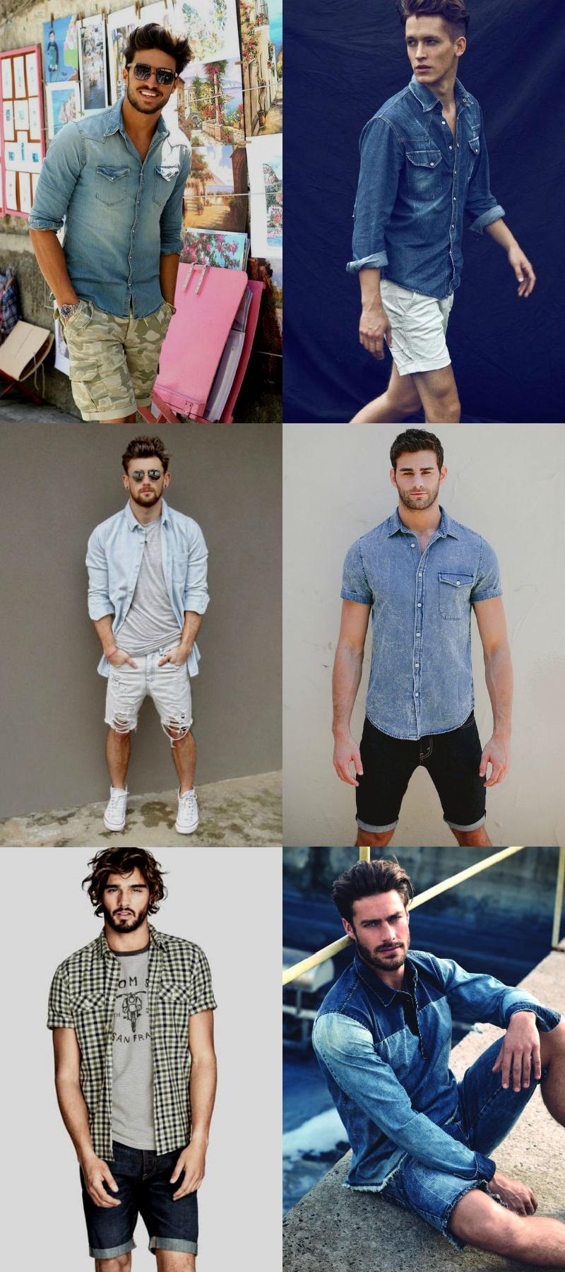 Homem No Espelho - Moda casual- bermudas camiseta jeans