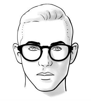 Homem-No-Espelho-Óculos-e-formatos-de-rosto-Coração