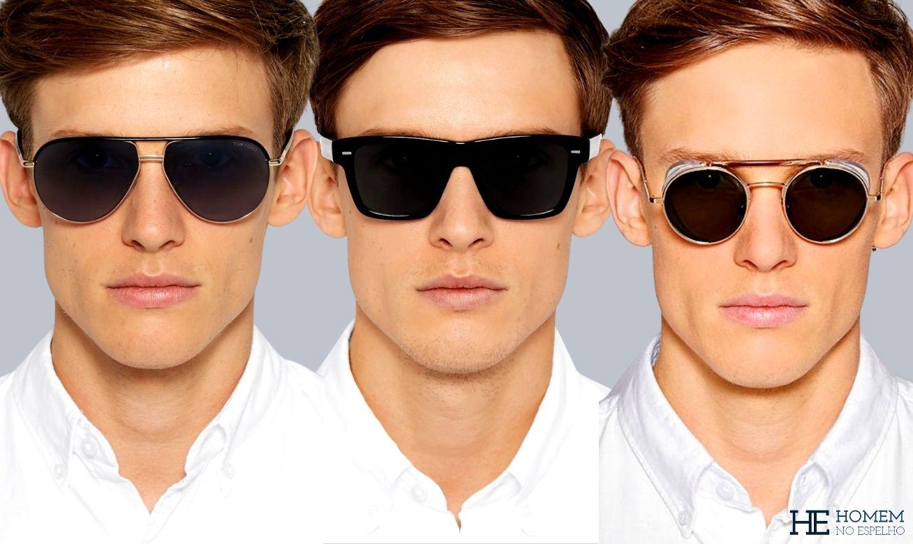 Tipos de óculos escuros masculinos