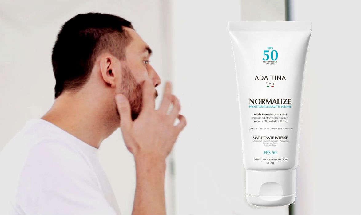 Homem-No-Espelho-protetor-solar-Ada-Tina-Normalize-matte-Intense-FPS-50