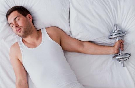 Homem No Espelho - Como ganhar músculos durante o sono-hipertrofia