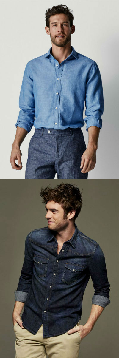 Homem No Espelho - Tipos de camisas masculinas - camisa de chambray