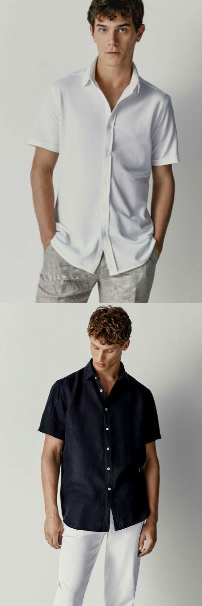 Homem No Espelho - Tipos de camisas masculinas - camisa de manga curta