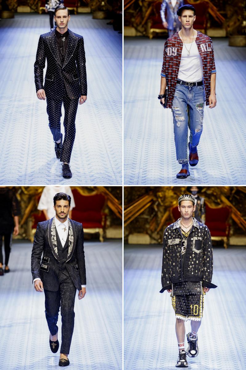 Homem No Espelho - Desfiles moda masculina 2018-2019 - Dolce & Gabbana