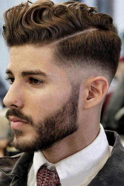 Cabelo Masculino Com Risco A Grande Tendencia Para 2019 Homem No