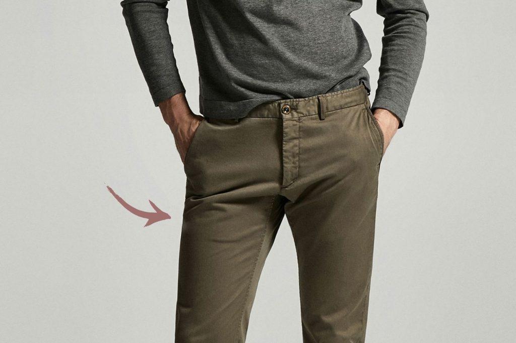 Homem No Espelho - Os tamanhos certos para a roupa cair bem no corpo - corte da calça