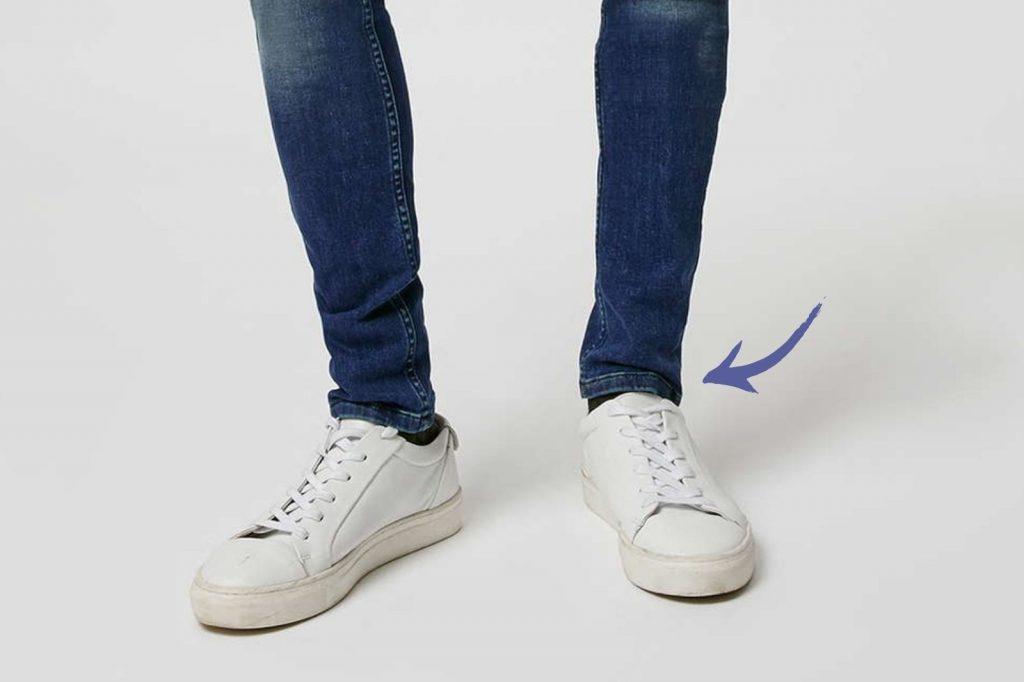 Homem No Espelho - Os tamanhos certos para a roupa cair bem no corpo - barra da calça