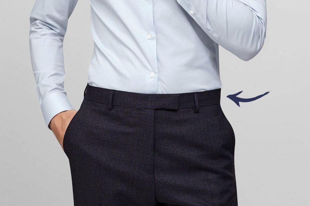 Homem No Espelho - Os tamanhos certos para a roupa cair bem no corpo - largura da cintura da calça
